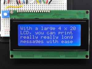 crisstel.ro Raspberry PI și LCD Shield 20x4