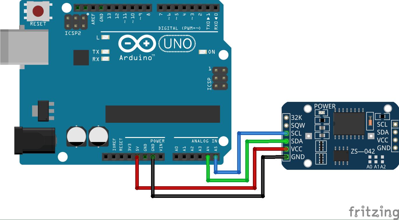 crisstel.ro Real Time Clock DS1307Z tensiune timpul Arduino – RTC Dacă dorești ca placa Arduino să interacționeze cu noțiunea de timp atunci iți este necesar un RTC sau Real Time Clock RTC-ul este un circuit integrat creat special pentru a menține timpul adică funcționează exact ca un ceas În majoritatea situațiilor nu este necesar ca un microcontroler să cunoască timpul dar cum procedezi atunci când vrei sa construiești o alarma un ceas cronometru sau un data logger? În acest caz iți este necesar un RTC DS1307Z+ ceas foarte popular care funcționează la o tensiune de 5V împreuna cu placa Arduino Real Time Clock DS1307Z+ O baterie litiu 3V CR1216 După ce ai realizat lipiturile urmează să conectezi RTC-ul împreuna cu placa Arduino Te vei folosi de firele de conexiune cu capete mamă-tată și tot ce trebuie să faci este sa înfigi firele în pinii plăcuței RTC și în pinii plăcii Arduino