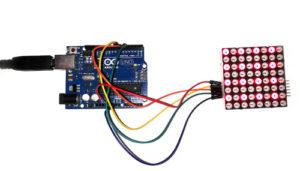 crisstel.ro Matrice înlănțuibilă 8 x 8 LED electronică buton 5V