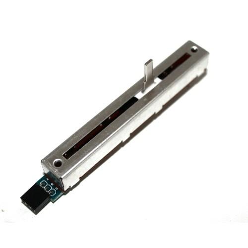 crisstel.ro Potențiometrul Liniar Brick și Arduino Potențiometrul liniar brick se conectează la un pin analogic al plăcii Arduino și iți permite să citești și să afișezi poziția cursorului folosind Monitorul Serial Cursorul se deplasează de-a lungul potențiometrului și se poate mișca cu mana Potențiometrul se conectează la placă prin intermediul a 3 fire: 2 de alimentare și unul de semnal (firul care se conectează la pinul analogic) poziția variază între valorile numerice 512 și 1023 în funcție de cum vei deplasa cursorul cu mana