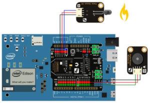 crisstel.ro Intel Edison Intel Edison este o platformă single board cu microprocesor dual-core Intel Atom ce rulează la o frecventa de 500 Mhz și un microcontroler Intel Quark pe 32 de biți ce rulează la 100 Mhz Microprocesorul și microcontroler-ul sunt integrate într-un chip SoC (System on Chip) Alte componente majore sunt: memoria RAM de 1 GB LPDDR3 memoria Flash de 4GB eMMC, modulul WiFI (a/b/g/n) cu posibilitatea atașării unei antene externe și modulul Bluetooth 4.0 Se considera ca Edison este asemănător cu Intel Galileo atunci când vine vorba de arhitectura dar diferența este ca Intel Edison consta într-o combinație dintr-un microprocesor Intel ce rulează Linux și un microcontroler Intel Quark ce rulează un RTOS Intel Edison comunica cu mediul extern ( sau cu alte module) prin intermediul unui conector de 70 de pini (dintre care 40 sunt disponibili utilizatorului) care nu poate fi utilizat oricum ci printr-o serie de placi special proiectate Conectivitatea Wireless Modulul Edison are în componenta chip-ul Broadcom 43340 responsabil cu comunicația WiFI și Bluetooth Antena proiectata pe plăcuță îți permite conectarea modulului la un smartphone sau router pe o distanță relativ redusă Un lucru interesant este ca plăcuța poate funcționa în modul Access Point adică se poate comporta ca și un router Intel Edison este proiectat sa exceleze la capitolul aplicațiilor ce implica protocoalele de rețea