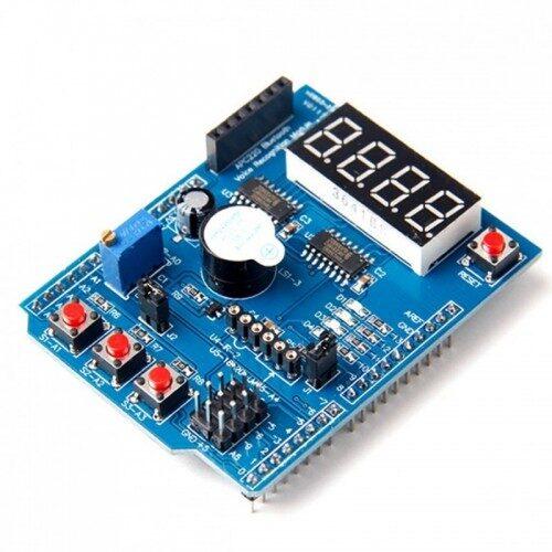 crisstel.ro 5 exerciții Arduino utilizând un singur shield înțelegerea modului de funcționare și de programare a plăcilor de dezvoltare Arduino accelerarea implementării unor exerciții interesante utilizând un shield Arduino multifuncțional afișaj cu 4 caractere pe 7 segmente interfețe de conectare pentru alte componente Să învățăm să numărăm în binar Numărătoare inversă Ceasul falsificat În cadrul acestui exercițiu vom exemplifica și utilizarea potențiometrului aflat pe shield Citirea potențiometrului returnează valori între 0 și 1023 nivelul aproximativ al falsificării