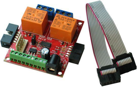 crisstel.ro Arduino UNO si MOD-IO2 funcționarea modulului MOD-IO2 împreună cu Arduino UNO Modulul MOD-IO2 este un modul cu microcontroller dedicat comunică cu Arduino prin protocolul I2C • Arduino UNO; • Placa cu relee MOD-IO2; • Adaptor Rpi-UEXT; • 3 led-uri brick de culori diferite; • Breadboard; • Fire pentru conexiuni. se alimenteaza de la o sursa de tensiune stabilizata de 12V vom folosi trei led-uri brick conectate la placa MODIO2 Pentru comunicarea I2C intre Arduino și MOD-IO2 Arduino este master iar placa MOD-IO2 funcționează pe post de slave