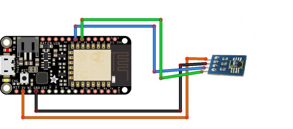 Hunting the Heat masurarea temperaturii si umidității serviciu de clud Adafruit Feather Huzzah WiFi ESP8266 SHT11 3.3V Robofun IoT