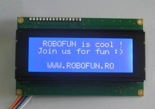crisstel.ro LCD-uri pentru Arduino LCD 16 X 2, LCD 16 X 4, LCD 20 X 4 Toate aceste LCD-uri se interfațează cu Arduino exact la fel Ca să-l folosești cu Arduino ai nevoie de fire de conectare și de un potențiometru de 10K pentru reglarea contrastului LCD 16 X 2 pe I2C, LCD 20 X 4 pe I2C li s-a atașat o placa suplimentară care comunică pe I2C cu Arduino și setează cei 8 pini pentru controlul LCD-ului la valorile care trebuie astfel încât pe LCD să fie afișat text-ul care trebuie