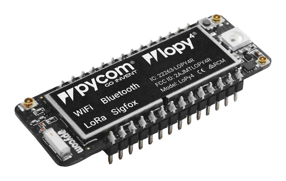 crisstel.ro LoRa meets ESP32 Intrarea pe piață a microprocesorului SoC ESP32 a marcat o nouă și interesantă etapă în cadrul familiei de circuite produse de compania Espressif facilitățile puse la dispoziția dezvoltatorilor de către ESP32 plăci de dezvoltare bazate pe ESP32 Adafruit HUZZAH32 Sparkfun ESP32 Thing Olimex ESP32-Gateway conectivitatea circuitului ESP32 cu conectivitatea modulelor radio LoRa LoPy este o astfel de placă de dezvoltare dar putem aminti și alte variante precum HELTEC WiFi LoRa 32 sau TTGO ESP32 SX1276 LoRa placa de dezvoltare LoPy posibilitatea de a utiliza mediul Arduino IDE conectivitatea unui modul radio LoRa posibilitatea de implementarea de dispozitive IoT multiprotocol posibilitatea de implementarea de sisteme gateway LoRa Realizarea unui nod LoRaWAN TTN placă de dezvoltare cu un modul radio LoRa