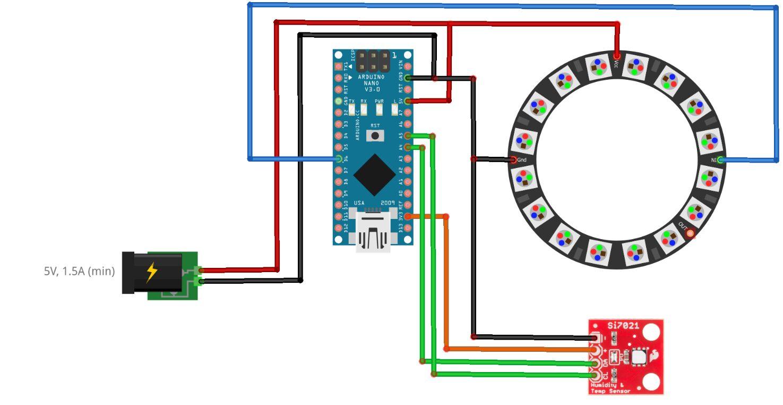 crisstel.ro Termometru/Higrometru Color schimbarea culorii THC temperaturii umidității ambientale LED-uri RGB