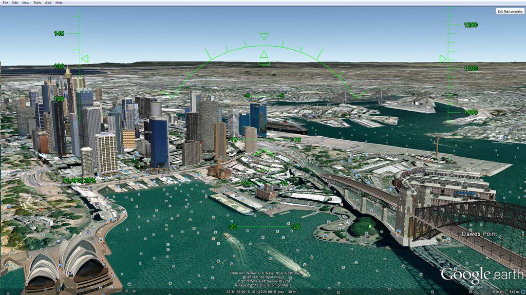 crisstel.ro Zbor peste Google Earth cu Arduino Leonardo și accelerometru Arduino Leonardo poate simula un mouse virtual un accelerometru este capabil de a detecta accelerația gravitaționala poți utiliza Arduino Leonardo și accelerometrul MMA8452Q pentru a simula zborul în aplicația Google Earth Arduino preia datele de la accelerometru prin interfața I2C se comportă ca un mouse ce îți permite sa zbori în Google Earth Flight Simulator Rutina setup inițializează accelerometrul Arduino va emula mouse-ul conectat la calculator se obțin datele de la accelerometru și sunt împinse în doua variabile deschide simulatorul de zbor din Tools-Enter Flight Simulator Conectează platforma Arduino la portul USB și așteaptă câteva momente până când mouse-ul devine activ pe monitor zborul este controlat de Arduino Leonardo mișcă accelerometrul în aer pe toate cele trei direcții