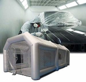 Cabină gonflabilă profesională pliabilă pentru spălătorii sau vopsitorii auto