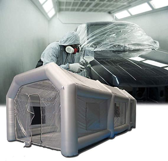 crisstel.ro Cabină gonflabilă profesională pliabilă pentru spălătorii sau vopsitorii auto