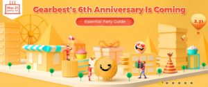 Gearbest's 6th Anniversary discount codes