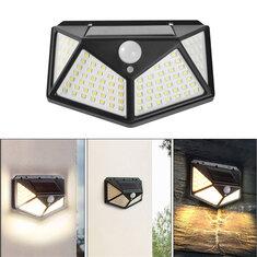 100 LED 600LM White/Warm Solar Sensor Wall Lamp 3 Modes Waterproof Garden Street Light Night Public Road Emergency Lantern Camping