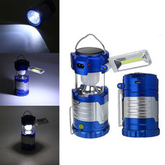3 In 1 Solar LED COB Camping Tent Lantern USB Rechargeable Torch Emergency Night Light Desk Lamp