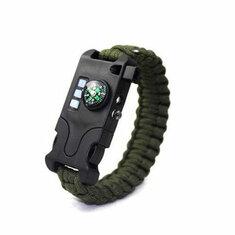 IPRee EDC Survival Bracelets Bangles Unisex Emergency Rope Kit Camping Hiking Buckle Wristband