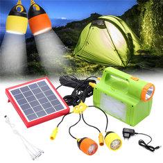 6V 6W Solar Lights LED Camping Lantern Hanging Flashlight Lamp Emergency Power Supply 8000mAh