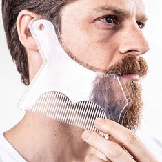 1Pc Beard Shaping Trimming Shaper Template Guide for Shaving