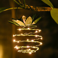 LED Copper Wire String Lights Decorative Pineapple Ironwork Solar Power Light For Room Garden