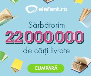 elefant.ro Sărbătorim 22 milioane de cărți livrate