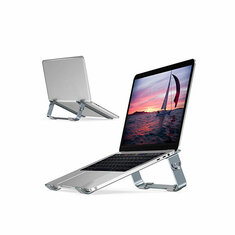 Bakeey Aluminum Foldable Height Adjustable Notebook Laptop Stand For 10.0-17.0 Inches Notebook MacBook Pro 15.6 Inches