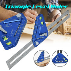 High Precision Triangle Level Woodworking Ruler Angle Ruler Wood Measuring Tool