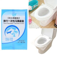 50 Pcs Disposable Toilet Seat Covers Anti-contact PE Waterproof Toilet Seat Lid Mat Camping Travel