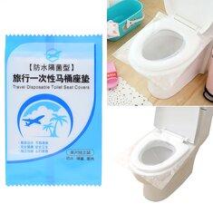 50 Pcs Disposable Toilet Seat Covers Anti-contact PE Waterproof Toilet Seat Lid Mat Camping Travel