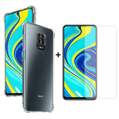 Bakeey 9H Anti-explosion Anti-scratch Tempered Glass Screen Protector + Transparent AirBag Shockproof Soft TPU Protective Case for Xiaomi Redmi Note 9s / Redmi Note 9 Pro / Redmi Note 9 Pro Max Non-original