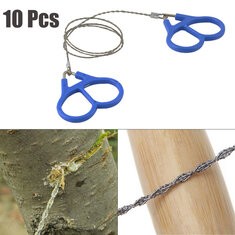 10 Pcs Camping Wire Saw Stainless Steel Travel Garden Branch Fretsaw Emergency Survival Gear