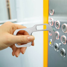 on-Contact Door Opener Handheld Keychain for Opening Doors Press Elevator Button Avoid Contacting Door Pulls