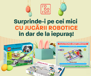 RoboFun – Surprinde-i pe cei mici cu jucării robotice în dar de la iepuraș!