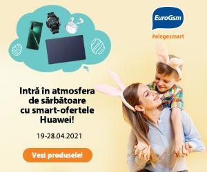 EuroGSM – Intră în atmosfera de sărbătoare cu smart-ofertele Huawei!
