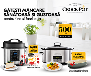 Cu Crock-Pot gătești mâncarea sănătoasă si gustoasă!