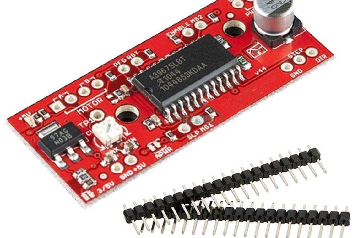 Arduino motoare stepper și Easydriver Motoarele pas cu pas sau motoarele stepper sunt motoare de curent continuu fără perii și sunt ideale dacă vrei să le integrezi într-o anumita aplicație ce necesita o anumită viteză de rotație sau dacă vrei ca motorul să se rotească până într-un anumit punct și apoi să își păstreze poziția Un motor de curent continuu poate fi controlat în sensul mișcării într-un anumit sens cu o viteza data Motorul se rotește cât timp exista tensiune aplicata O rotație completă a unui motor stepper este alcătuita din mai multi pași fiecare pas reprezentând doar o fracțiune din rotația completă a motorului un motor pas cu pas poate fi controlat extrem de precis controlul este ceva mai complicat decât în cazul unui motor de curent continuu În cele ce urmează vom prezenta folosirea EasyDriver (un driver de motor pas cu pas specializat) pentru a controla un motor pas cu pas EasyDriver iți permite să comanzi motorul în pași foarte mici Această tehnica se numește microstepping practic driverul împarte un pas în 8 micropași Asta înseamnă că motorul se poate roti cu precizie ridicată Celălalt parametru important este intensitatea curentului necesar (există o relație directă între aceasta și forța motorului; cu cât motorul necesita un curent mai mare pentru a funcționa cu atât trebuie sa te aștepți că va avea o forță mai mare)