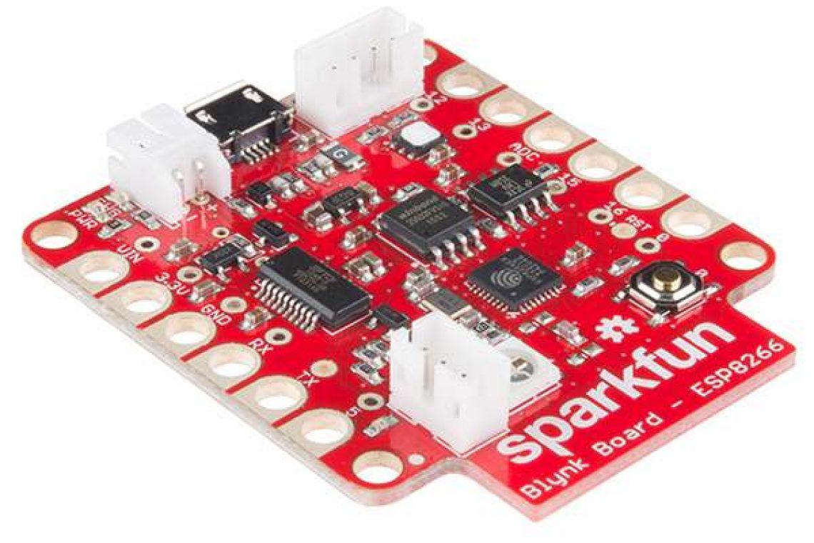 crisstel.ro Blynk IoT Sparkfun Blynk ESP8266 cloud Blynk Procesorul WiFi ESP8266 senzorul digital de temperatură și umiditate Si7021 Robofun IoT