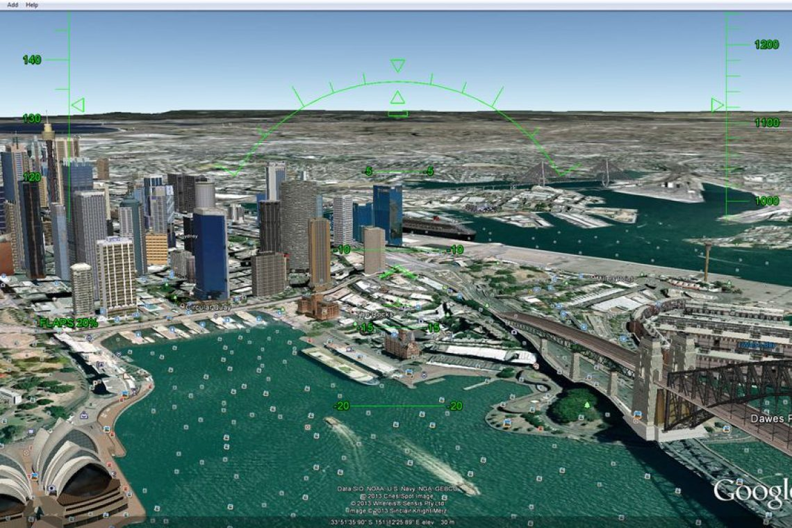 Zbor peste Google Earth cu Arduino Leonardo și accelerometru Arduino Leonardo poate simula un mouse virtual un accelerometru este capabil de a detecta accelerația gravitaționala poți utiliza Arduino Leonardo și accelerometrul MMA8452Q pentru a simula zborul în aplicația Google Earth Arduino preia datele de la accelerometru prin interfața I2C se comportă ca un mouse ce îți permite sa zbori în Google Earth Flight Simulator Rutina setup inițializează accelerometrul Arduino va emula mouse-ul conectat la calculator se obțin datele de la accelerometru și sunt împinse în doua variabile deschide simulatorul de zbor din Tools-Enter Flight Simulator Conectează platforma Arduino la portul USB și așteaptă câteva momente până când mouse-ul devine activ pe monitor zborul este controlat de Arduino Leonardo mișcă accelerometrul în aer pe toate cele trei direcții