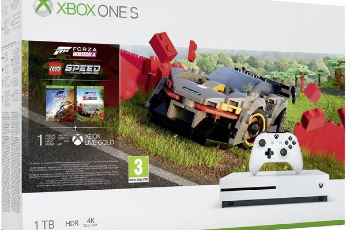 crisstel.ro Consola Microsoft Xbox One S 1TB + Forza Horizon 4 + LEGO DLC (Alb)